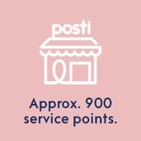 900 service points