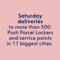 Saturday deliveries